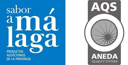 logos sabor a malaga / AQS aneda